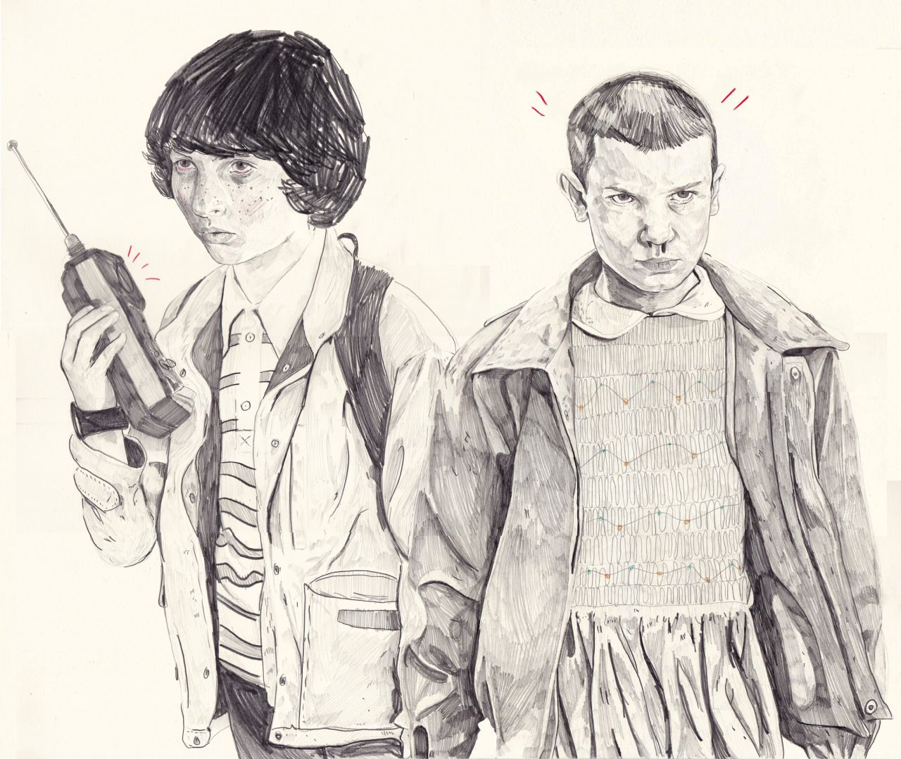 El And Mike / Stranger Things Drawing