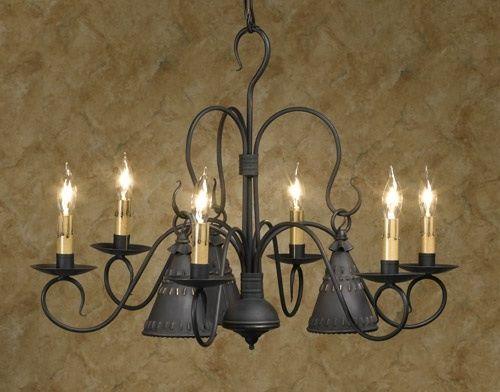 primitive lighting ideas. Petticoat 6 Arm Wrought Iron Chandelier Primitive Country Colonial Lighting Ideas
