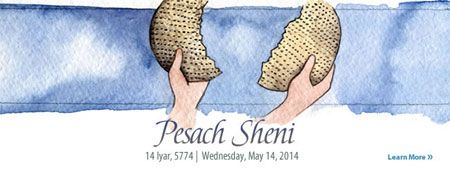 Thirty days ago we cleaned our homes and souls of leaven, and matzahed our way through the week-long festival of Passover. And now, Pesach Sheni—a Second Passover!