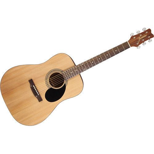 Jasmine Acoustic Dreadnought Guitar Finely Crafted Natural Musical Instrument Guitar Stand Guitar Guitar Case