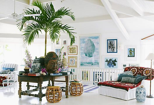 Boho Beach Decor The Strips And Plants Are Everything