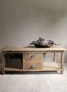 Oude houten elmwood (iepenhout) salon tafel afmeting:180x53xh40cm