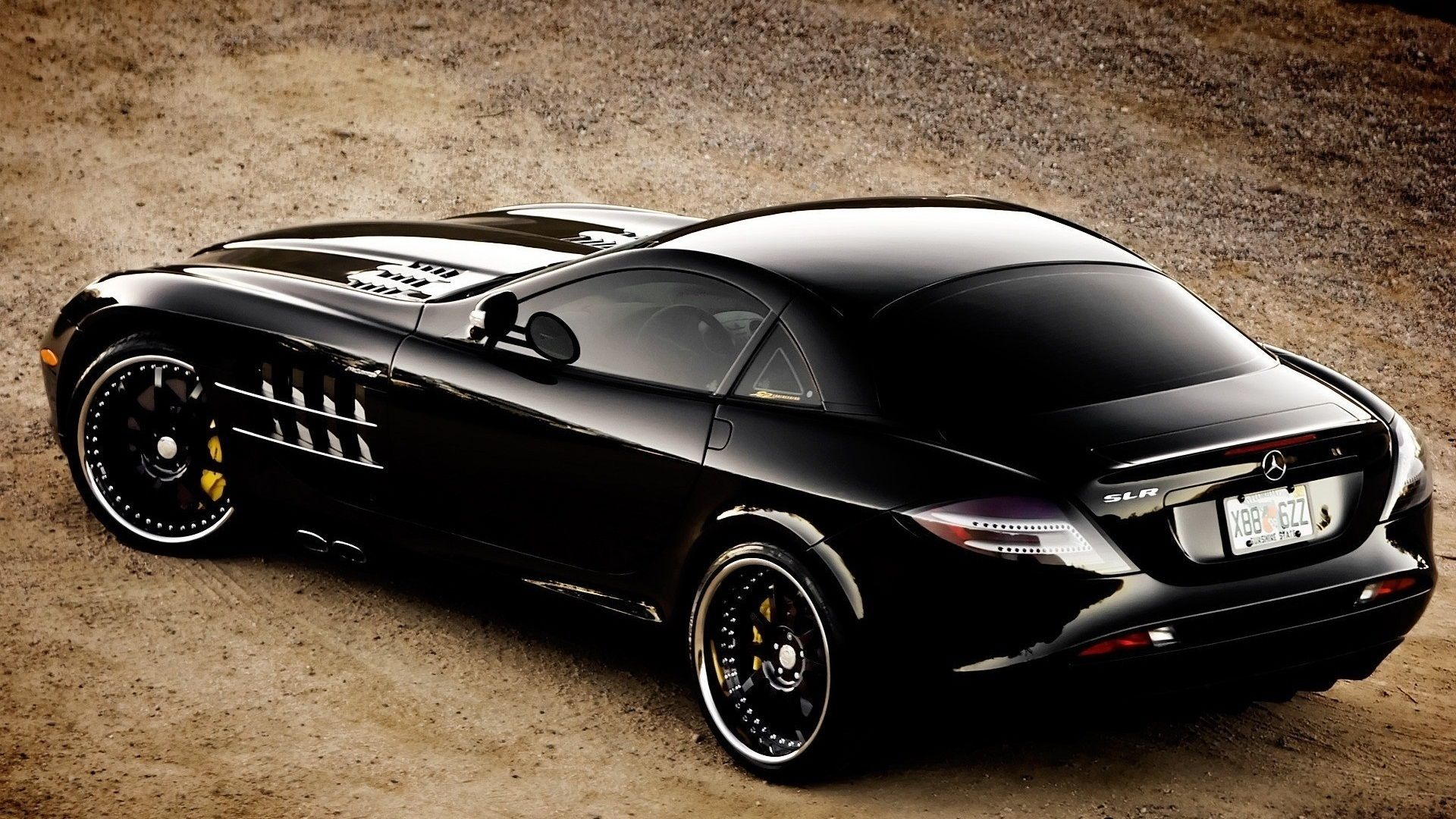 Mercedes Benz Slr Mclaren Black Convertible Mercedes-Benz SLR McLa...