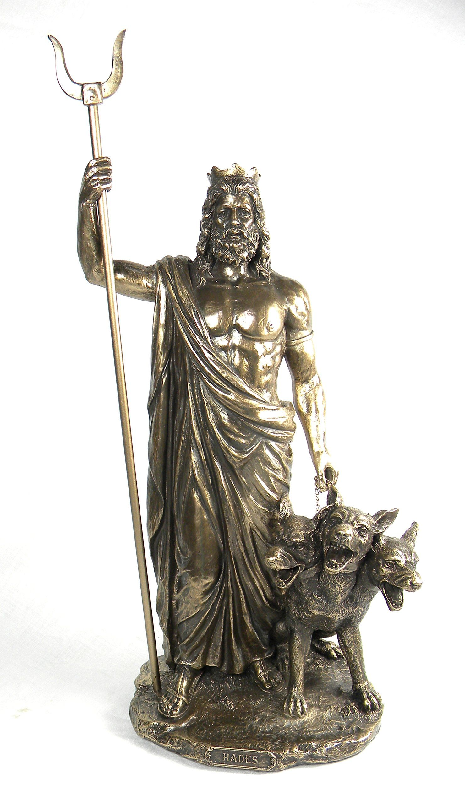 Statue Of Gods Bronze Finish Greek God Hades And Cerberus Statue