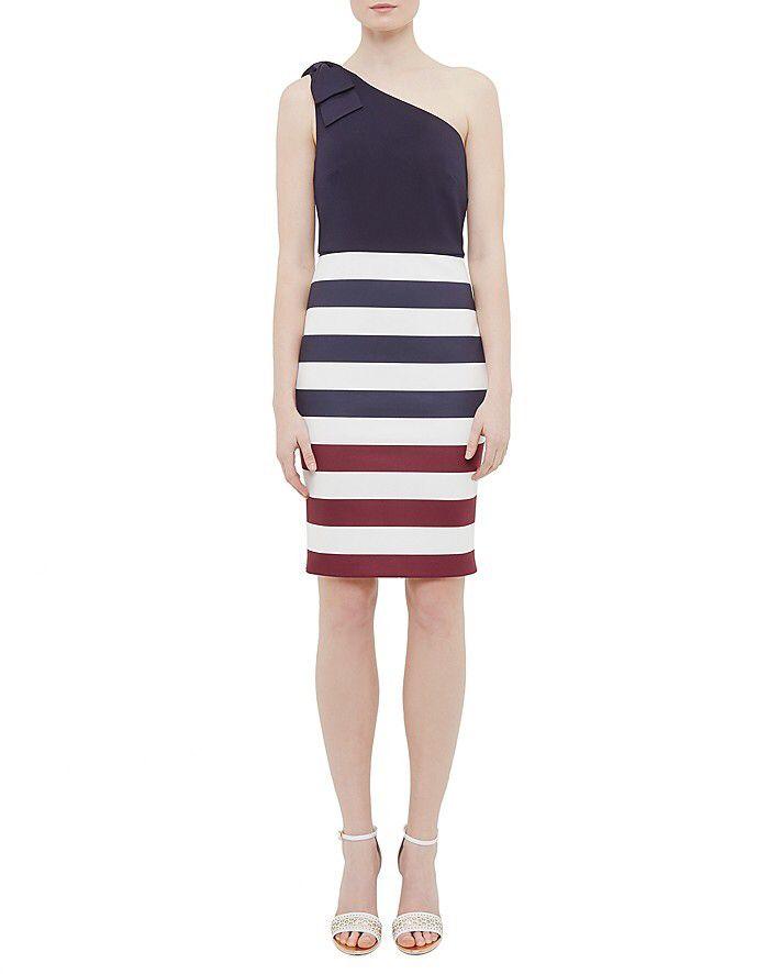 #stripe #dress #afflink Hilila Rowing Stripe One-Shoulder Dress - $154 http://shopstyle.it/l/eKs9