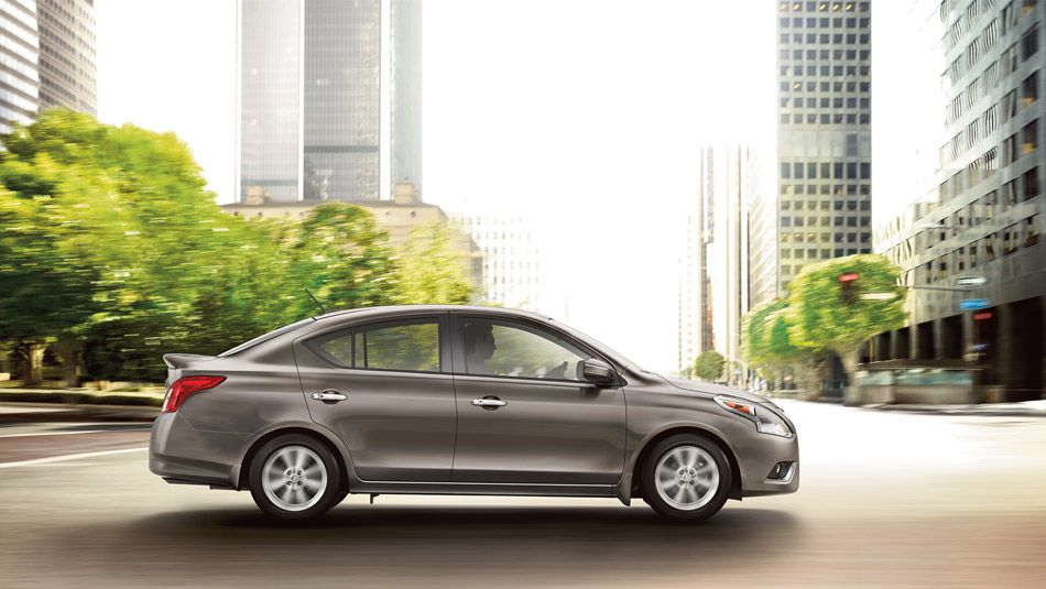 2015 NISSAN VERSA® Sedan SL shown in Titanium. (With
