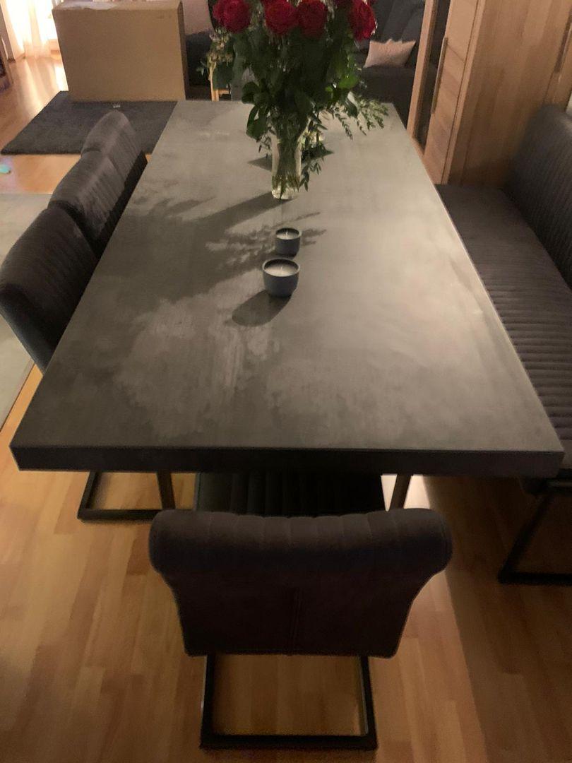 Tisch aus Fliesen  Tisch betonoptik, Möbel betonoptik