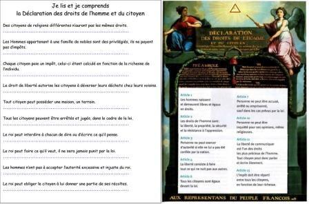 La Declaration Des Droits De L Homme Et Du Citoyen
