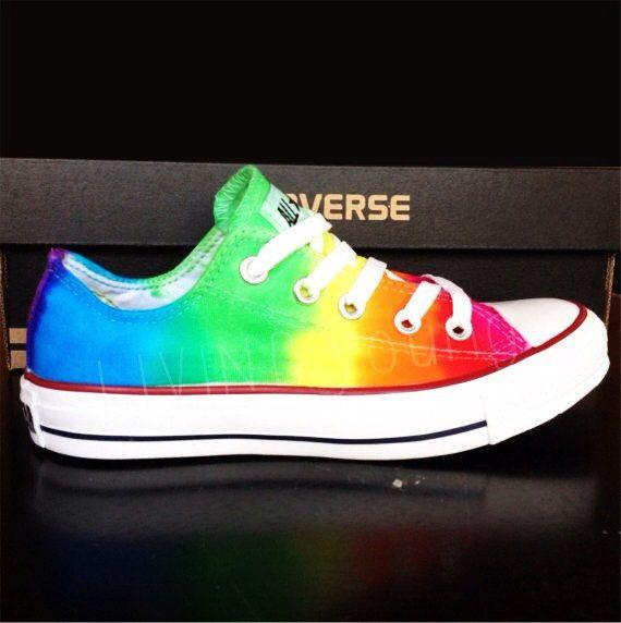 5eeec213aadf Rainbow Tie Dye Converse  rainbow  converse  tiedye  summer  89 ...
