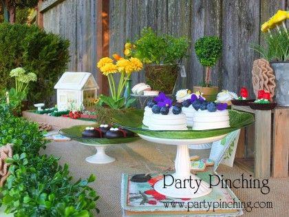 blueberry meringues greenhouse cake, garden cake, garden party ideas ...