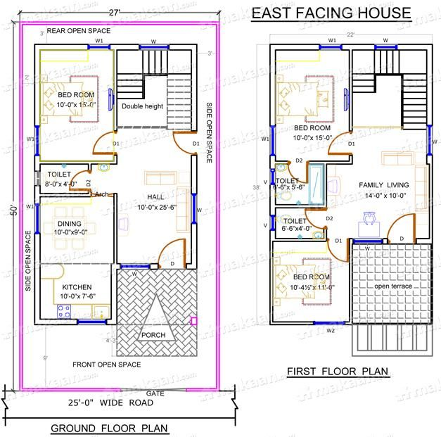 Download South Facing Duplex House Vastu Plans Chercherousse Indian House Plans Duplex House House Plans