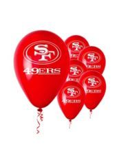San Francisco 49ers Latex Balloons 6ct Sports Birthday