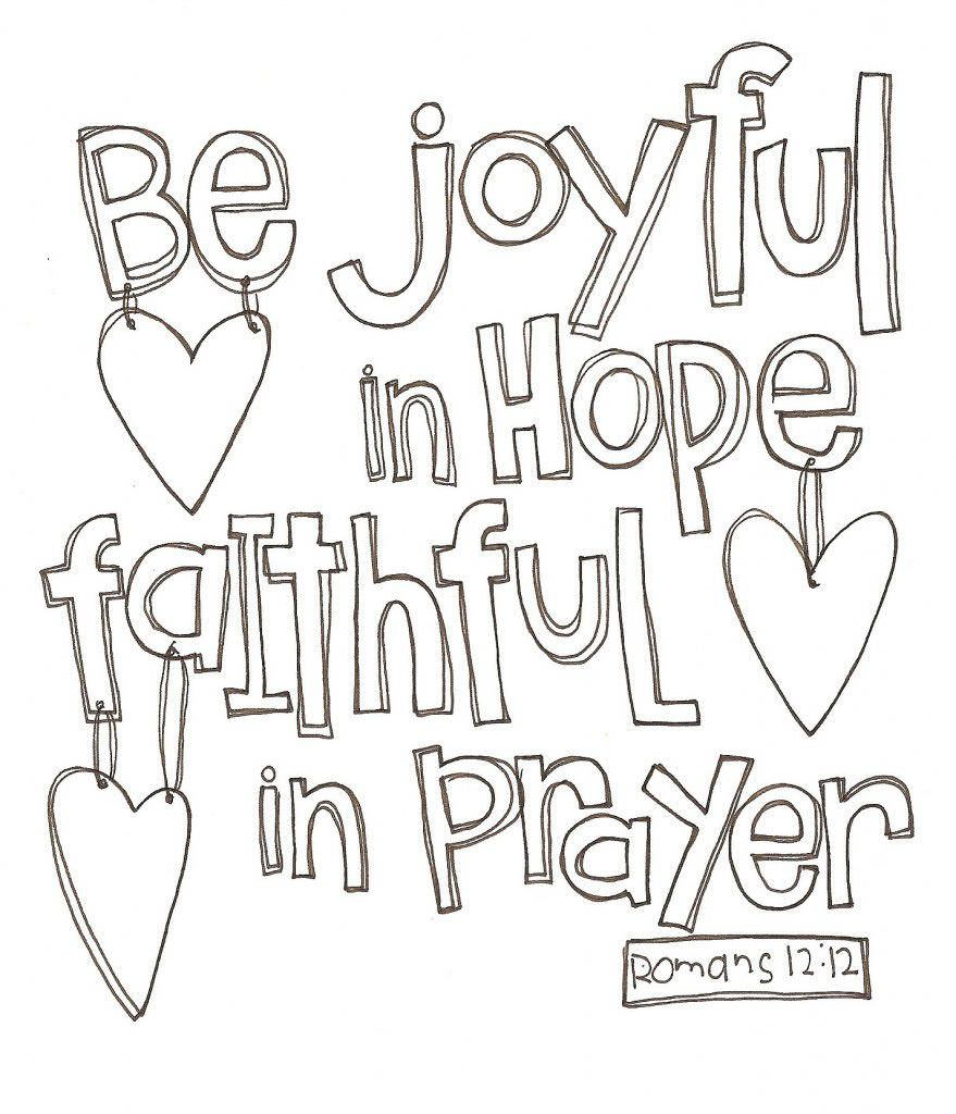 Coloring page of romans 1212