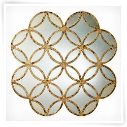 Interesting - Francis Antique Silver Wall Mirror - 30W x 30H in.