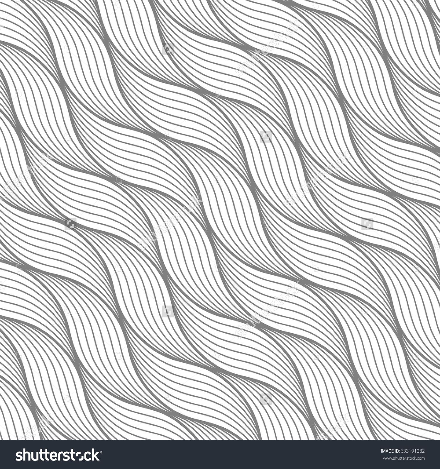 a4847962 Geometric pattern with abstract waves, lines, stripes. A seamless vector  background. Vector illustration