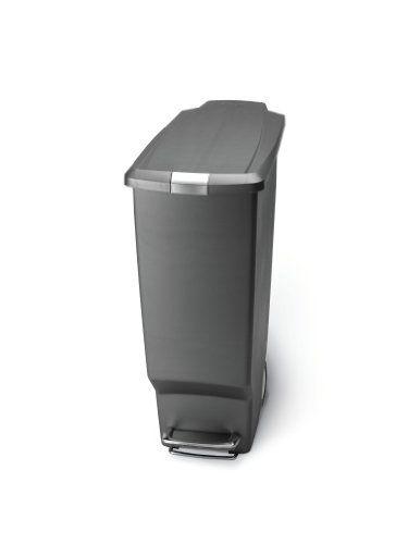 Bestseller Simplehuman 40 Liter Slim Plastic Step Can Grey 39 99 Kitchen Trash Cans Simplehuman Kitchen Bin
