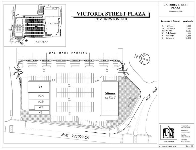 Victoria Street Plaza Shopping Plan Edmundston New Brunswick Plaza