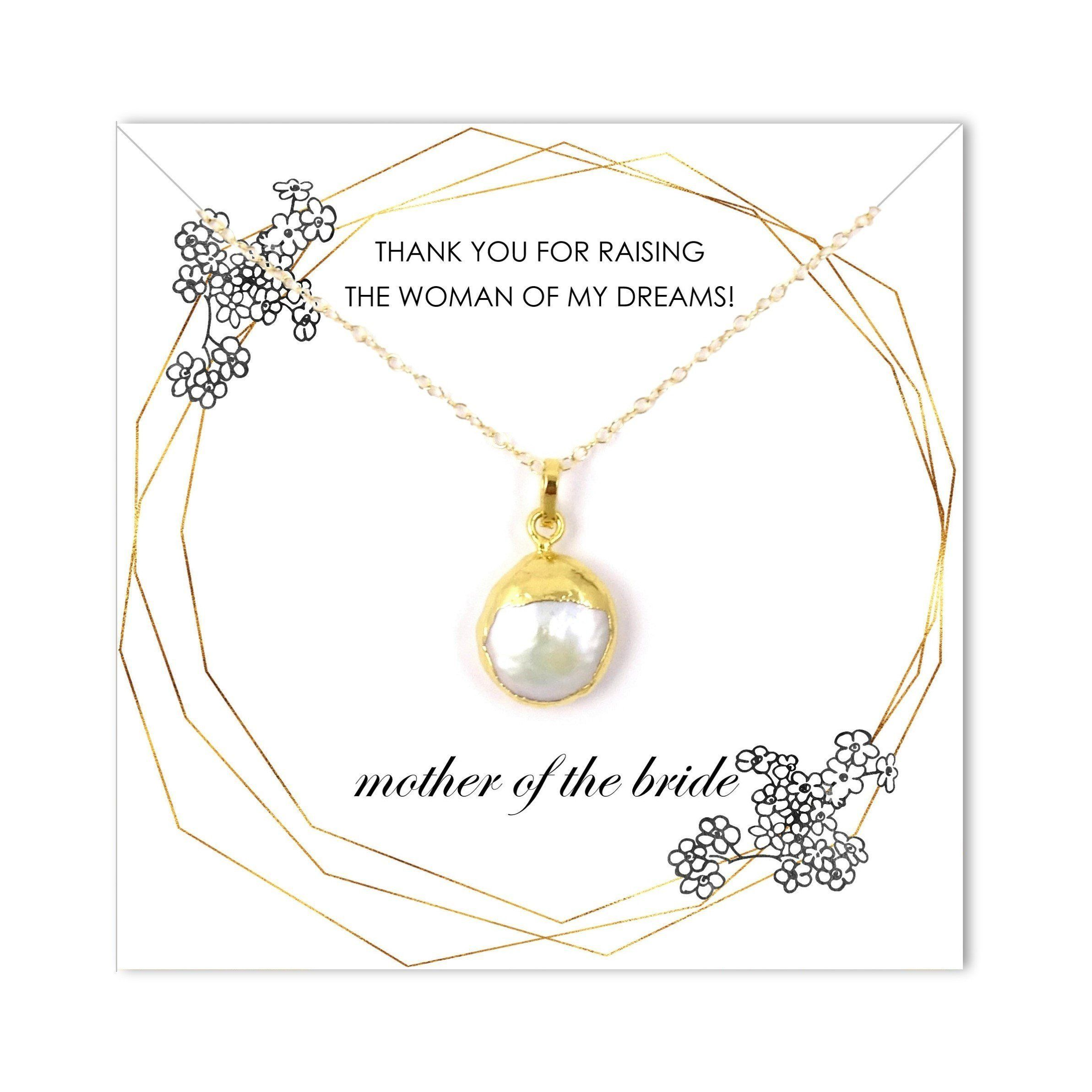 Wedding Necklace Mother Of Bride Thank You For Raising Woman My Dreams Jewelry