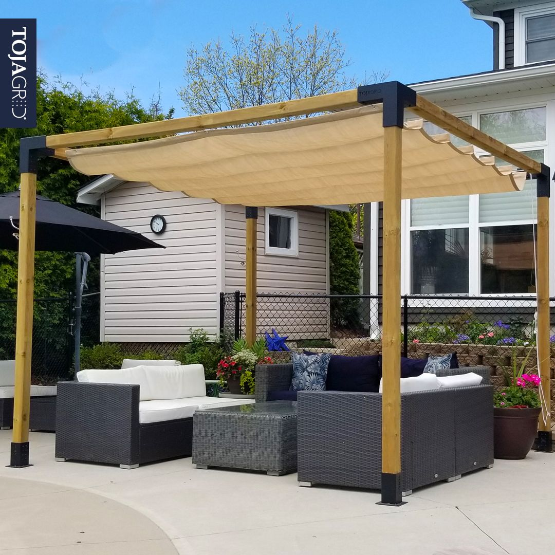 Any Size Pergola Kit For 4x4 Wood Posts In 2020 Pergola Kits Pergola Shade Sail