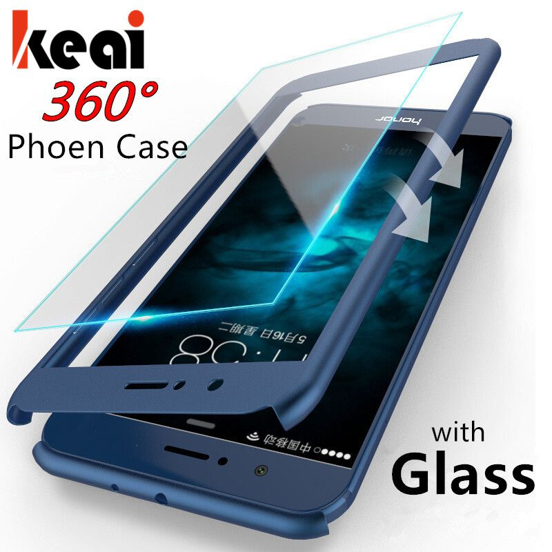 360 Protective Phone Cases For Huawei Honor 8 Lite Case Front Back Cover  Full Body Coverage For honor 8 Case With Tempered Glass d5b29bdac