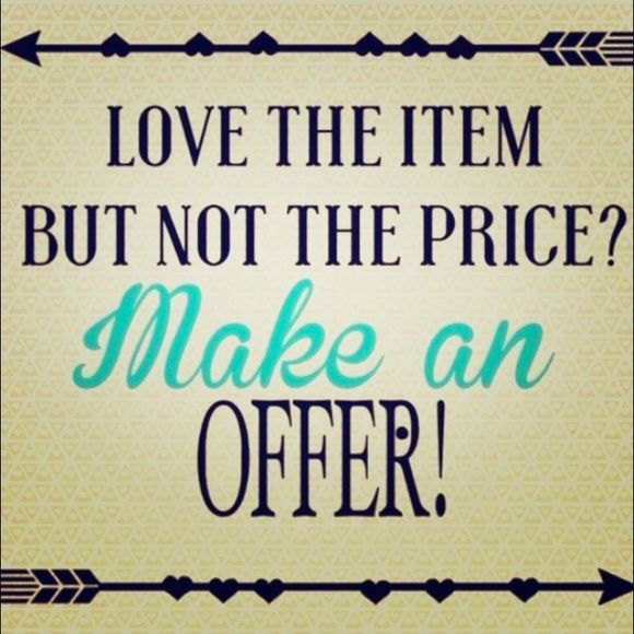 """Feel free to Make an Offer!  The """"Make Offer"""" button can be found next to the """"Buy Now"""" button.  Accessories"""