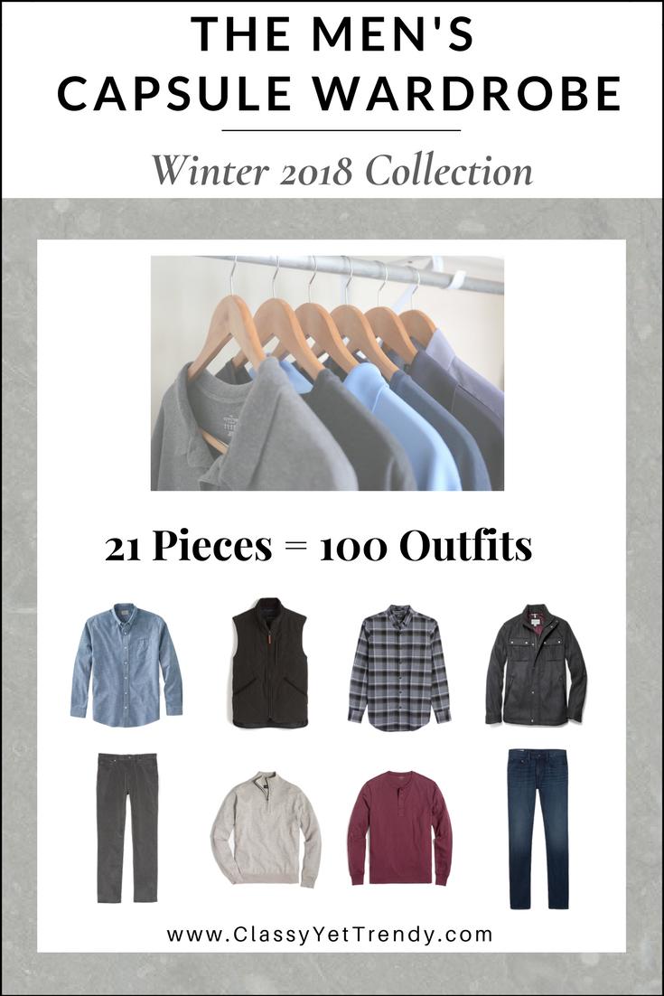 The Men S Capsule Wardrobe Winter 2017 2018 Collection Capsule