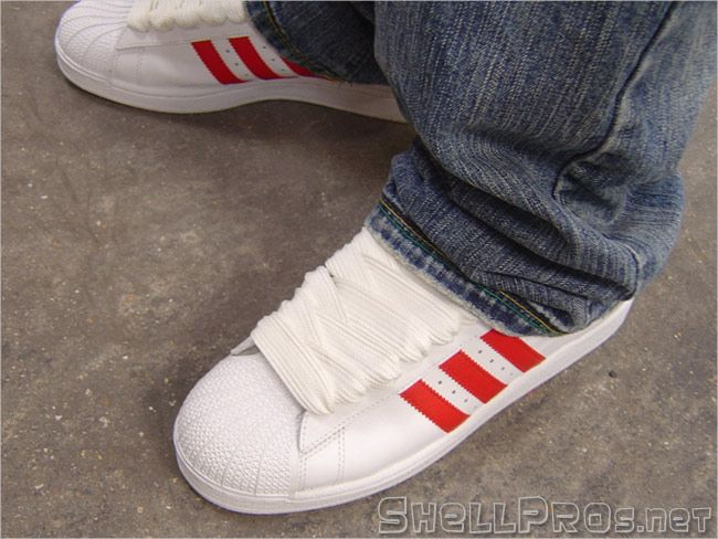 Adidas Superstar II with fat laces