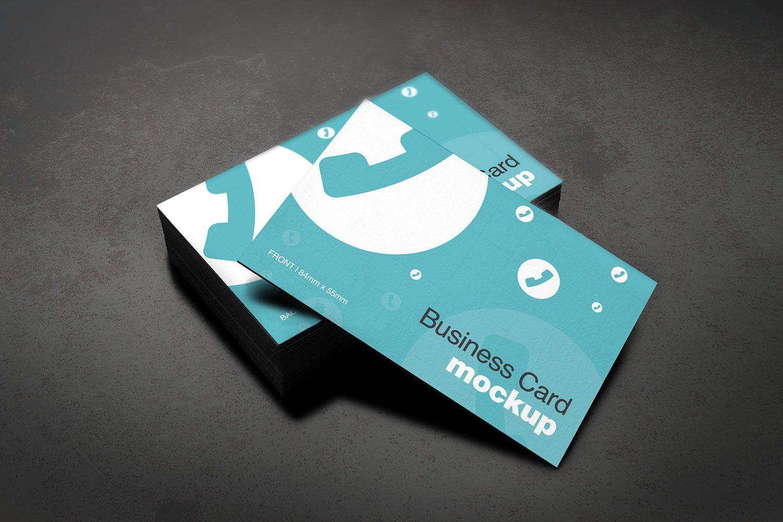 European Size Business Card Mockup