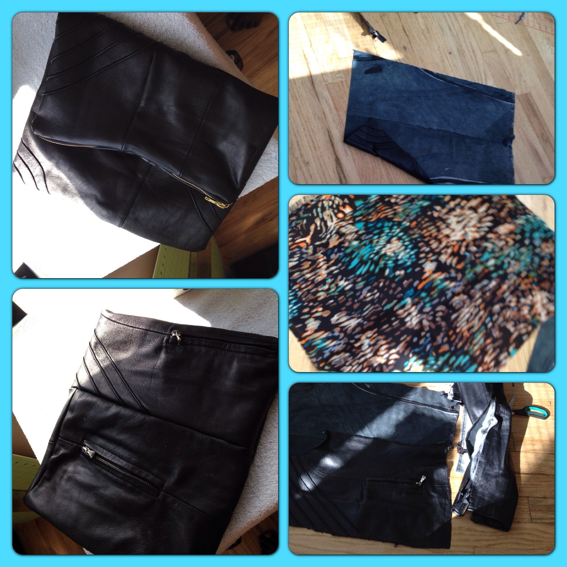 Leather jacket diy - Clutch Purse Made Out Of An Old Leather Jacket Diy Sewing