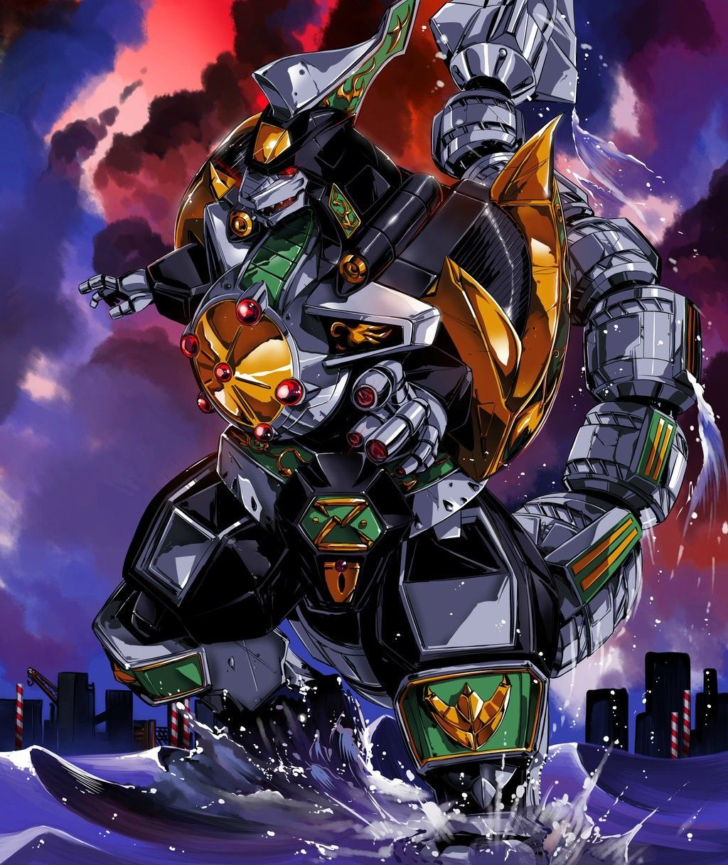 Mighty Morphin Power Rangers Wallpaper: Resultado De Imagem Para Dragonzord Wallpaper