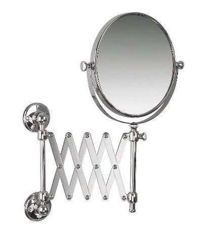 Stockholm Concertina Extendable Magnification Mirror Shaving Mirror Wall Mounted Magnifying Mirror Mirror