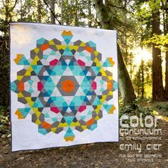 """Stunning """"Bauble"""" quilt by Emily Cier from her Color Continuum series. Pattern available here: http://shop.carolinapatchworks.com/product/color-continuum-no-03-emilychromatic"""