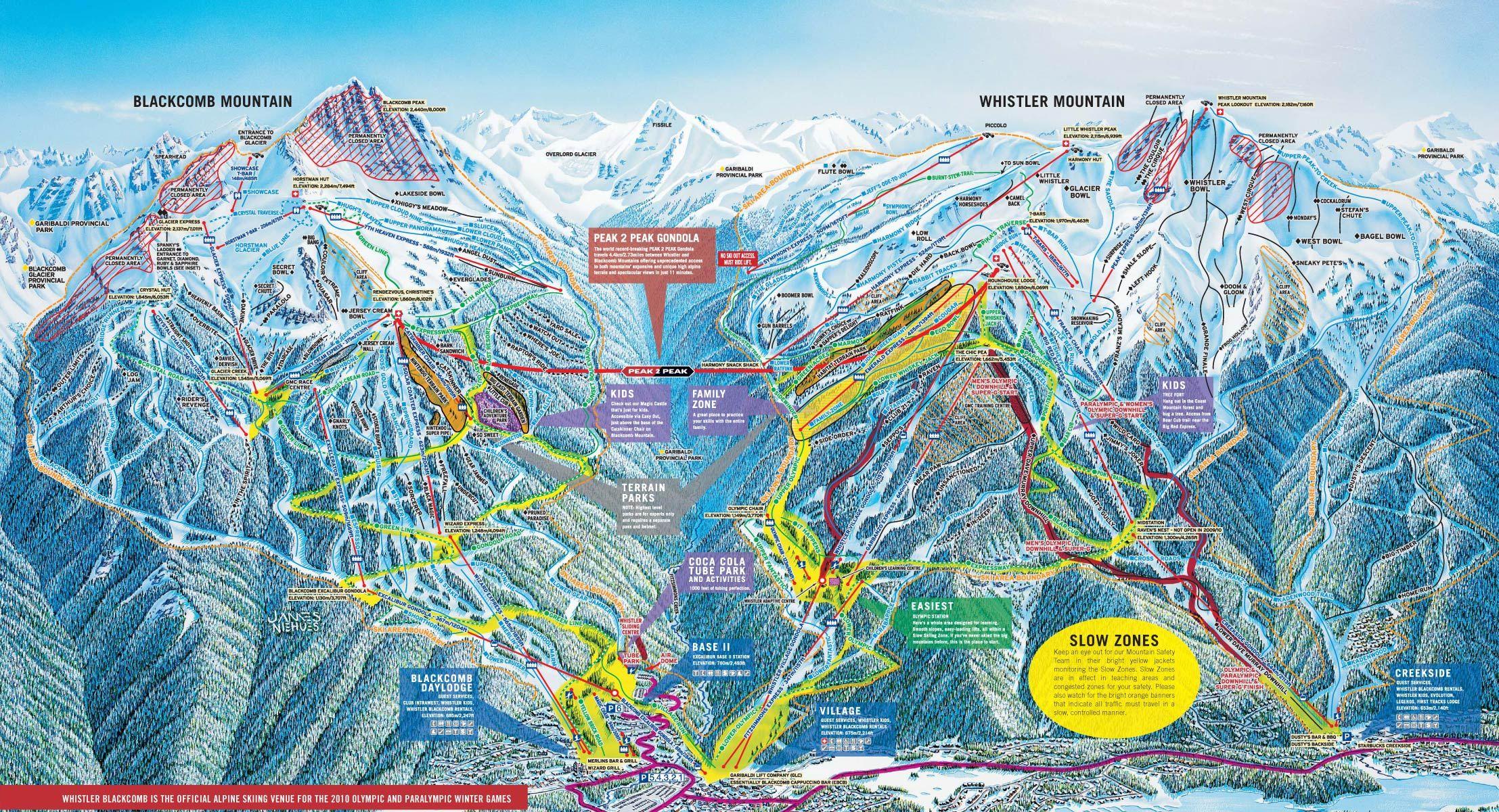 Sunshine Village Trail Maps  Sunshine Village Ski Resort Trail