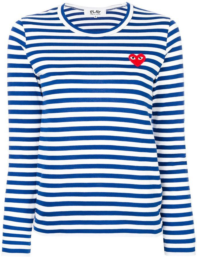Comme Des Garçons Play Striped Longlseeved T Shirt Farfetch Mens Fashion Casual Mens Fashion Classy Casual Fashion