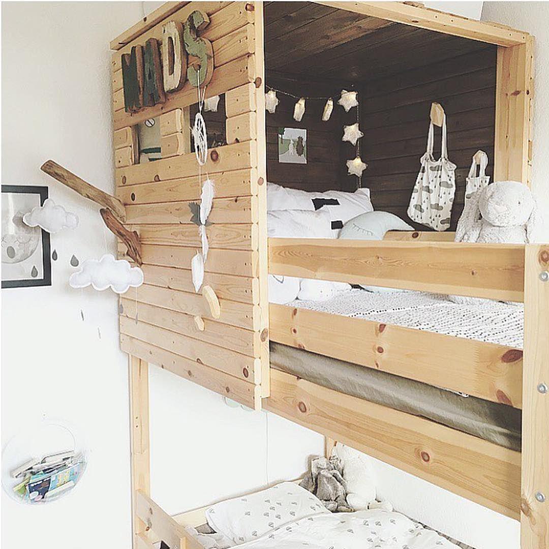 IKEA MYDAL bunkbed DIY fort ikeadanmark Avengers room
