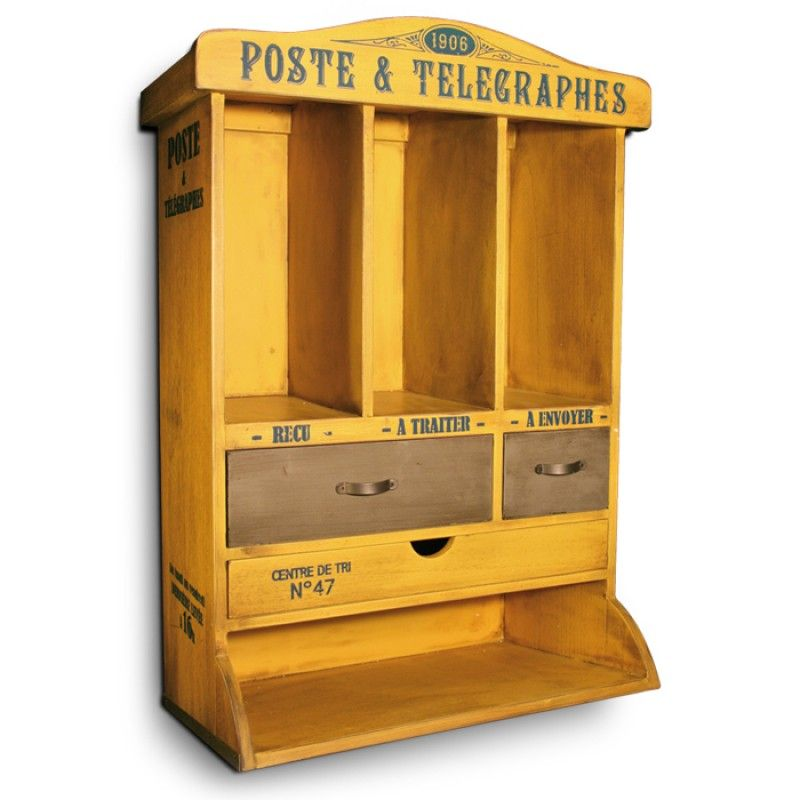 meuble courrier jaune patin jolie cuisine natives d co r tro vintage endroits visiter. Black Bedroom Furniture Sets. Home Design Ideas