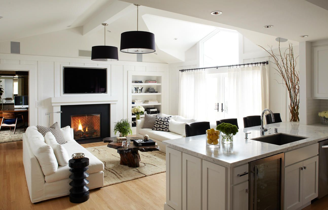 Design Shuffle Blog - A widespread view of the living room shows how ...