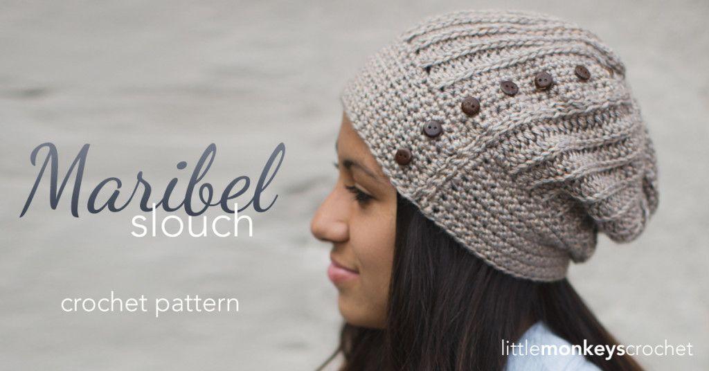 Maribel Slouch Crochet Hat | Free Slouchy Hat Crochet Pattern by ...