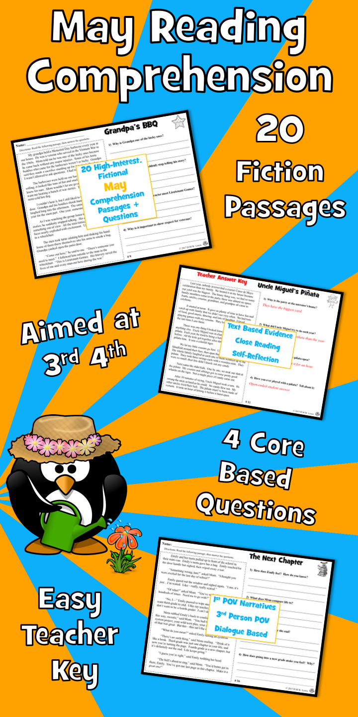 20 Fictional May Reading Comprehension Passages With Four Written Questions Grandpa Reading Comprehension Passages Reading Comprehension Comprehension Passage [ 1440 x 720 Pixel ]