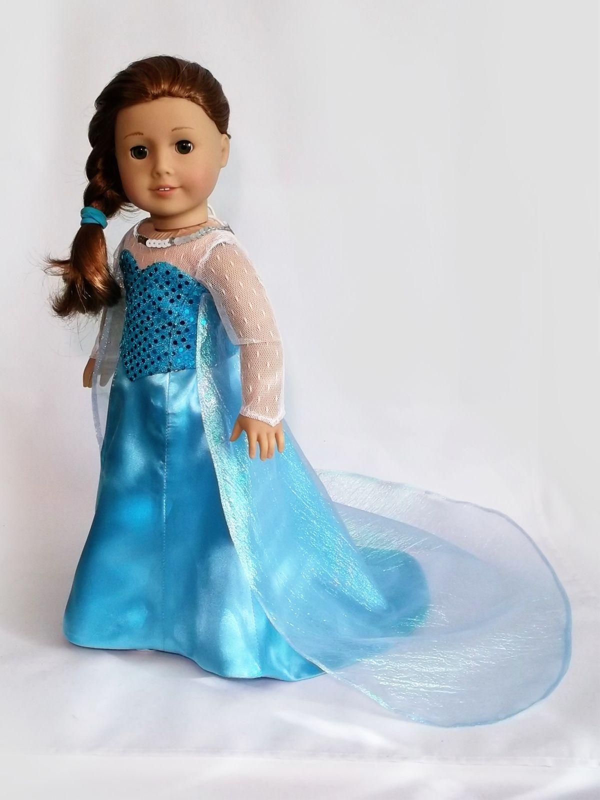 Disney Princess Snow Queen Elsa (Frozen) dress for American Girl Doll  sc 1 st  Pinterest & Disney Princess Snow Queen Elsa (Frozen) dress for American Girl ...