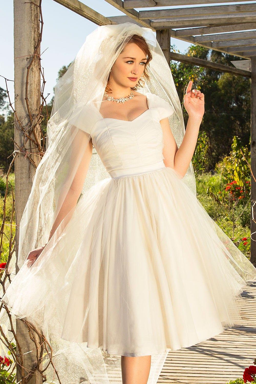 Laura Byrnes Lesley-Ann Dress in White Tulle | The Dress | Pinterest ...