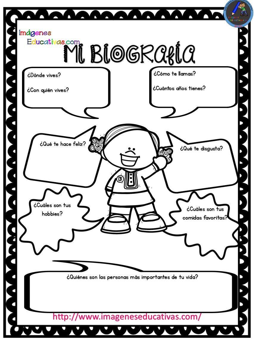 Autobiografía Para Niños Primaria Y Primer Grado Primeros Grados Autoestima Para Niños Actividades De Autoestima