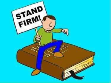 Stand firm on Gods Word! He's our rock & nothing can shake us!!! ❤️