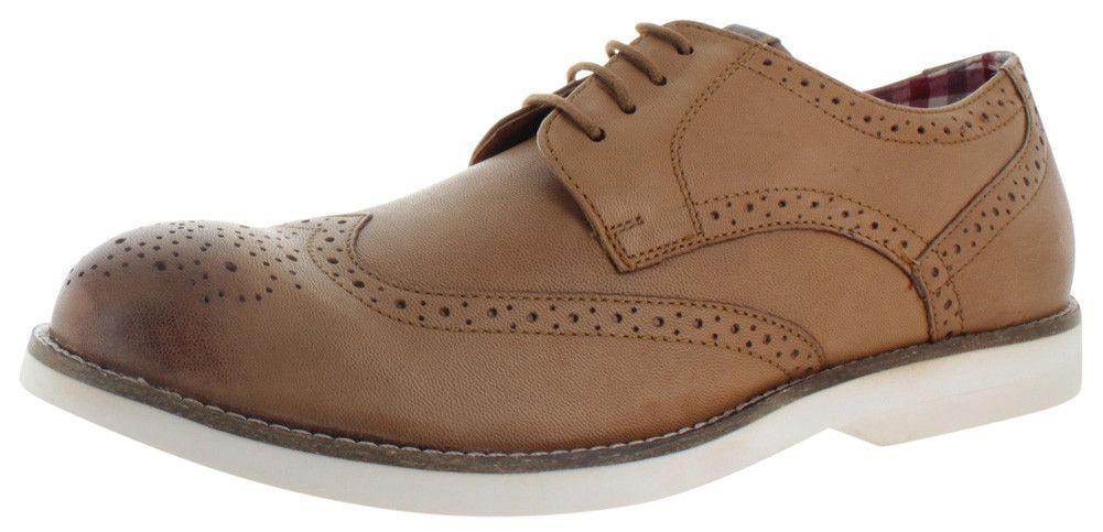 Ben Sherman Ronnie Men's Leather Wingtip Dress Shoes Oxfords