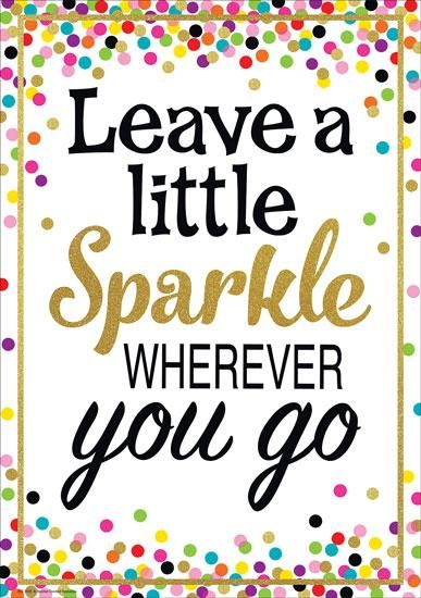 Confetti Chart and Poster Set - Leave a Little Sparkle Poster