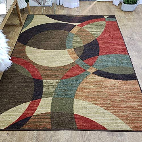 Photo of New Area Rug 5×7 Colored Circles Kitchen Rugs mats   Rubber Backed Non Skid Rug Living Room Bathroom Nursery Home Decor Under Door Entryway Floor Non Slip Washable   Made  Europe online – Newtrendylook