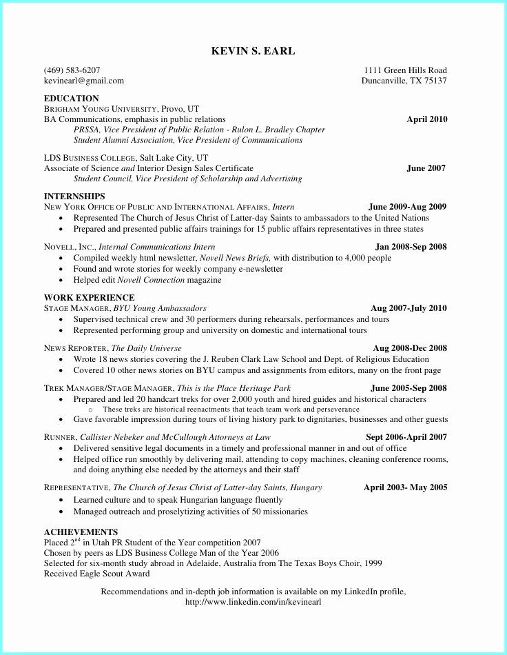 High School Resume Builder Fresh College Resume Builder