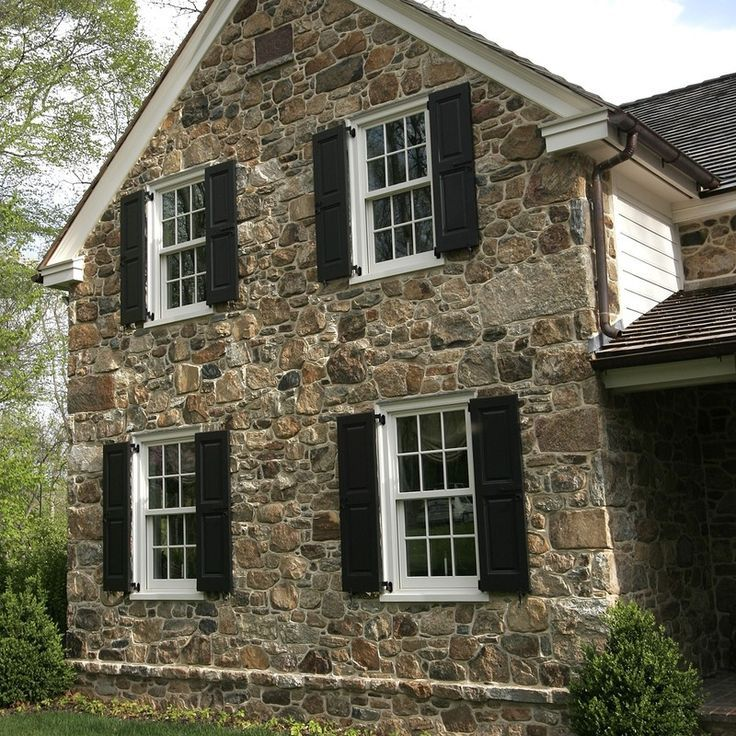 Image result for stone houses with black shutters | Stone Houses w ...