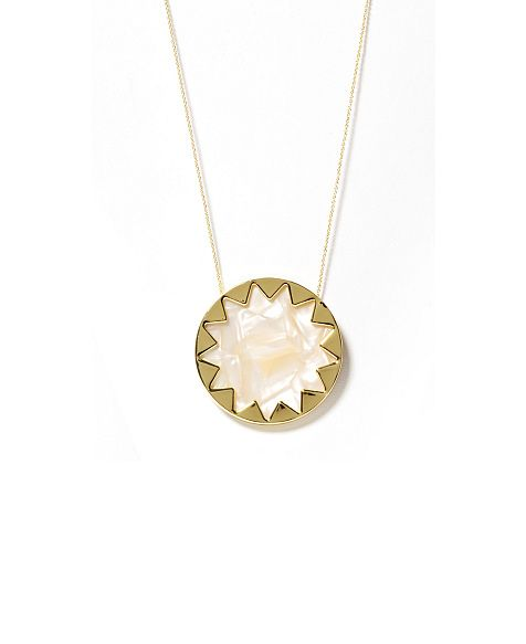 House of harlow mother of pearl resin sunburst pendant necklace house of harlow mother of pearl resin sunburst pendant necklace aloadofball Images