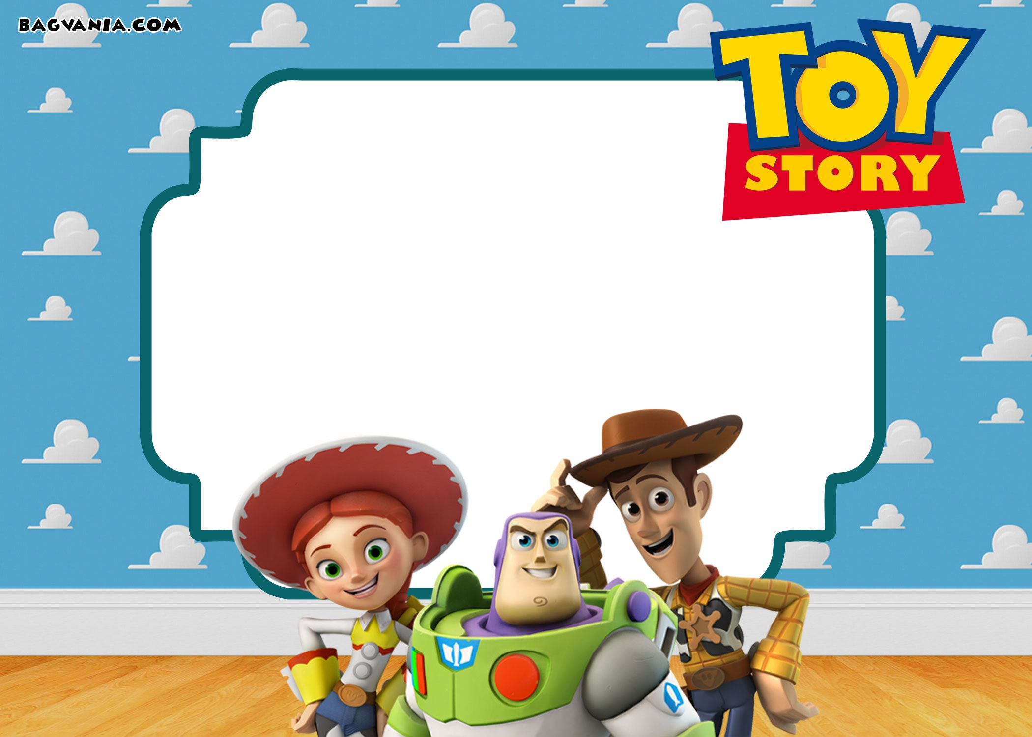 Download FREE Printable Toy Story 3 Birthday Invitations Templates
